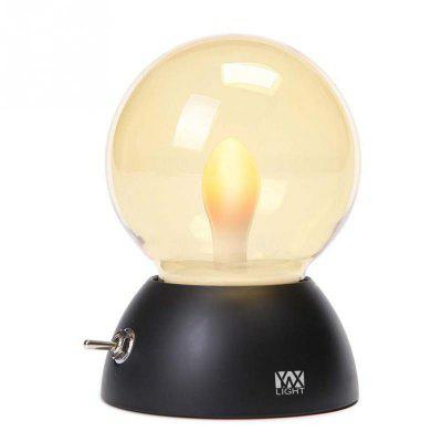 YWXLight Retro Colorful USB Rechargeable LED Globe Night Light Bulb
