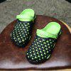 ZEACAVA Summer Male Sandals Hole Shoes Slippers - GREEN