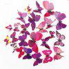 Dimensional Living Room Bedroom Engraving Handmade Butterfly Wall Sticker - MULTI-A
