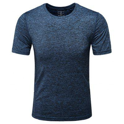 Summer Men'S Pure Color Dry T-Shirt