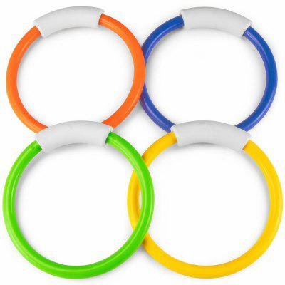 Funny Kid Ring Underwater Swimming Pool Diving Throwing Toy 4PCS