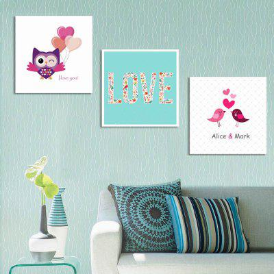 W292 Cute Cartoon Unframed Art Wall Canvas Prints for Home Decorations 3 PCS