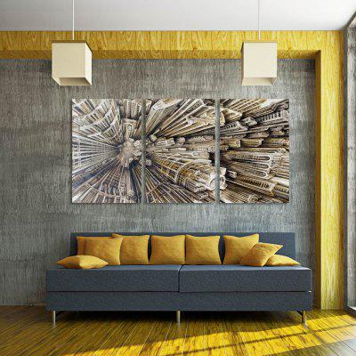 W294 City Buildings Unframed Art Wall Canvas Prints for Home Decorations 3 PCS
