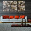 W294 City Buildings Unframed Art Wall Canvas Prints for Home Decorations 3 PCS - MULTI-A