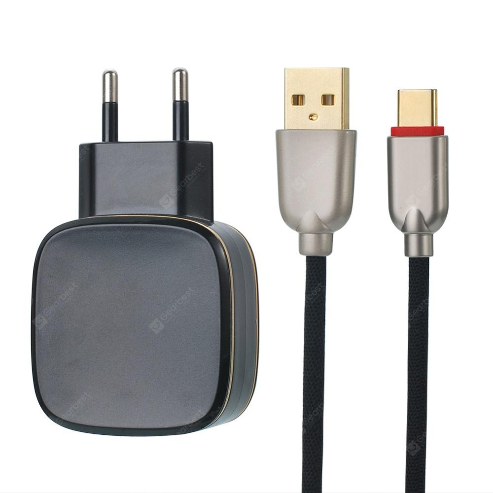 QC3.0 Quick Charger Compatible with 2USB Type-C Mobile Phone Data Cable 5V4.5A