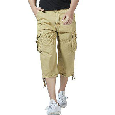 Men Big Pockets Loose Pants Casual Cargo Shorts