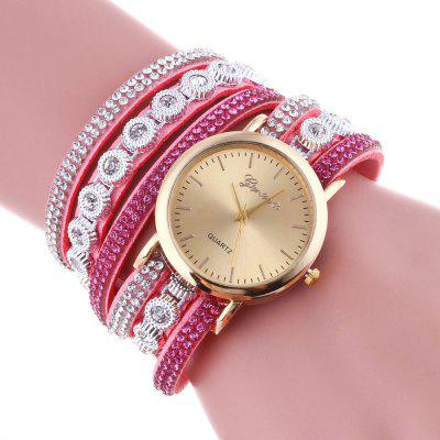 New Fashion Lady Personality Artificial  Diamond  Wrist Chain Watch