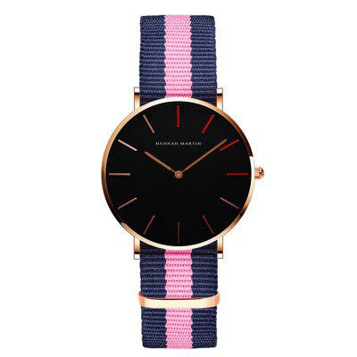 Mode Relogio Masculino Dames Waterdichte Student Nylon Band Quartz Horloges