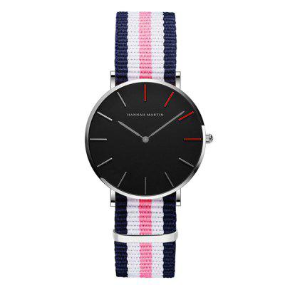 Fashion Relogio Masculino Women Waterproof Student Nylon Strap Quartz Watches