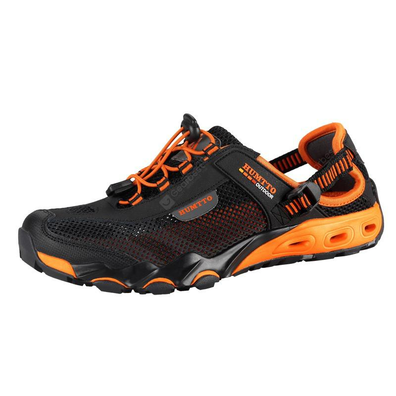 HUMTTO Men Outdoor Trekking Comfortable Shoes - Black 42