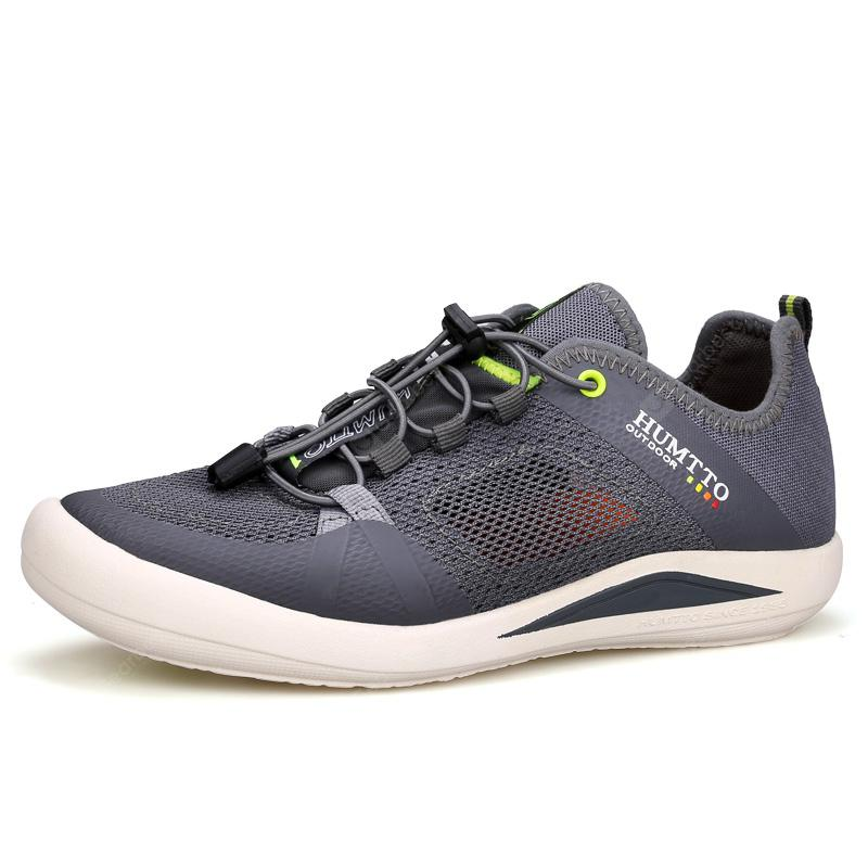 HUMTTO Men's Breathable Mesh Outdoor Quick-lacing Trekking Walking Shoes