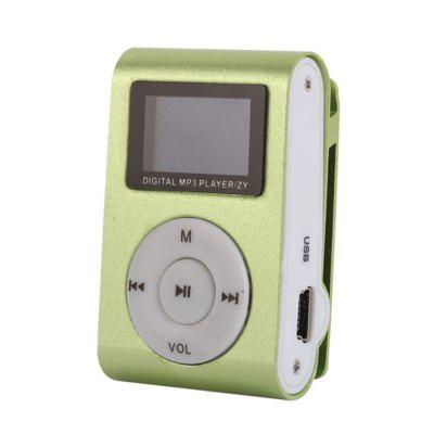 Mini USB Metal Clip MP3 Player LCD Screen Support 32GB Micro SD TF Card