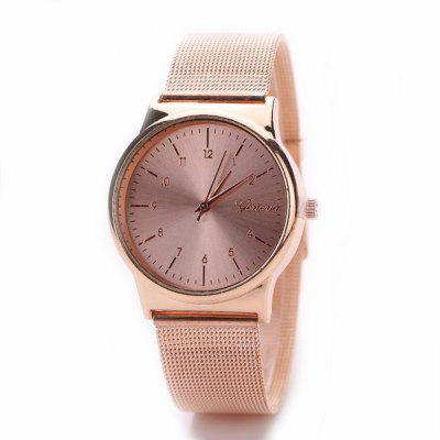 Sports Fashion Net Casual Golden Outdoor Military Watch
