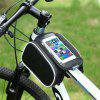 Bicycle Mobile Phone Touch Screen Riding On The Front Tube Saddle Bag - BLACK