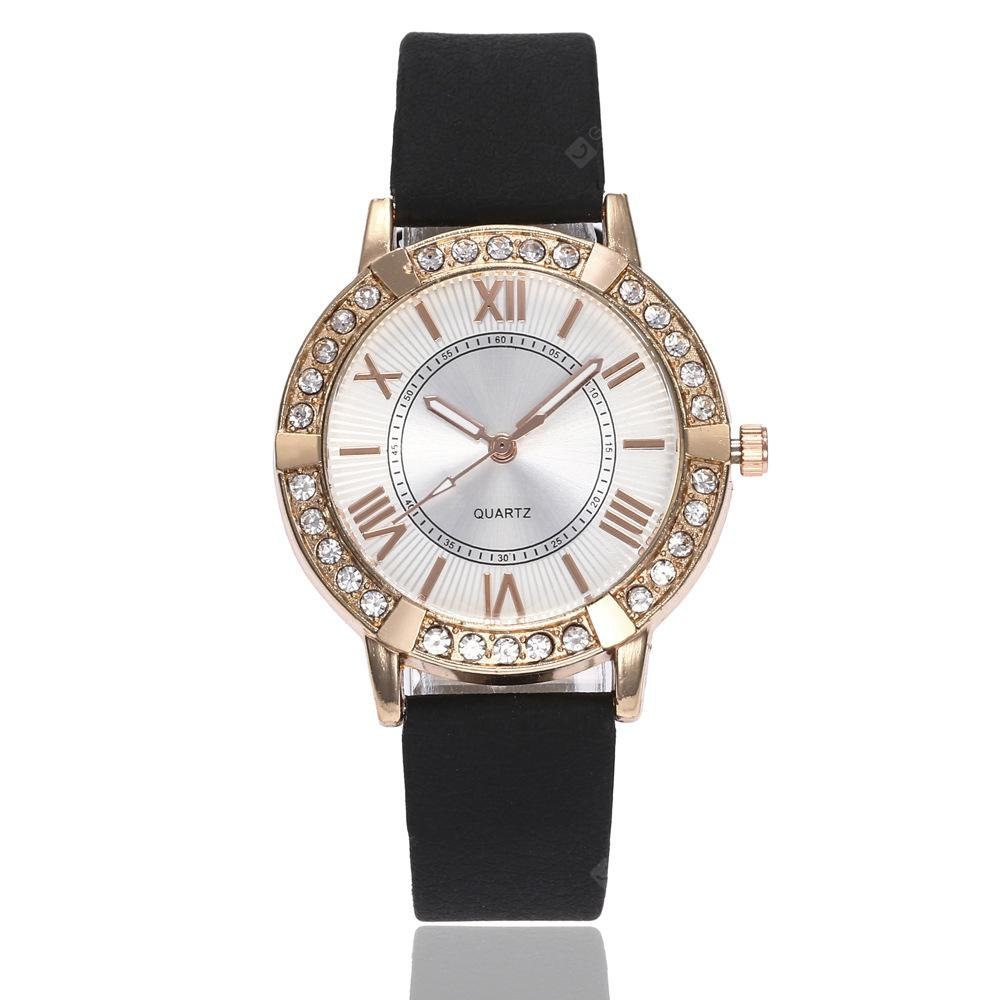 Moda Roman adorável escala Dial Artificial Diamond Watch