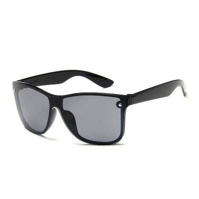 Color film Oversized Square Box Sunglasses Man and Woman Riding street marble oversized square mirrored sunglasses