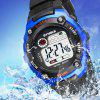 SYNOKE Student Movement LED Waterproof Electronic Watch - BLUE