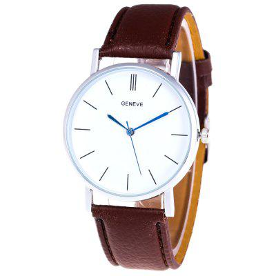 GENEWA Fashion Belt Men Business Quartz Watch