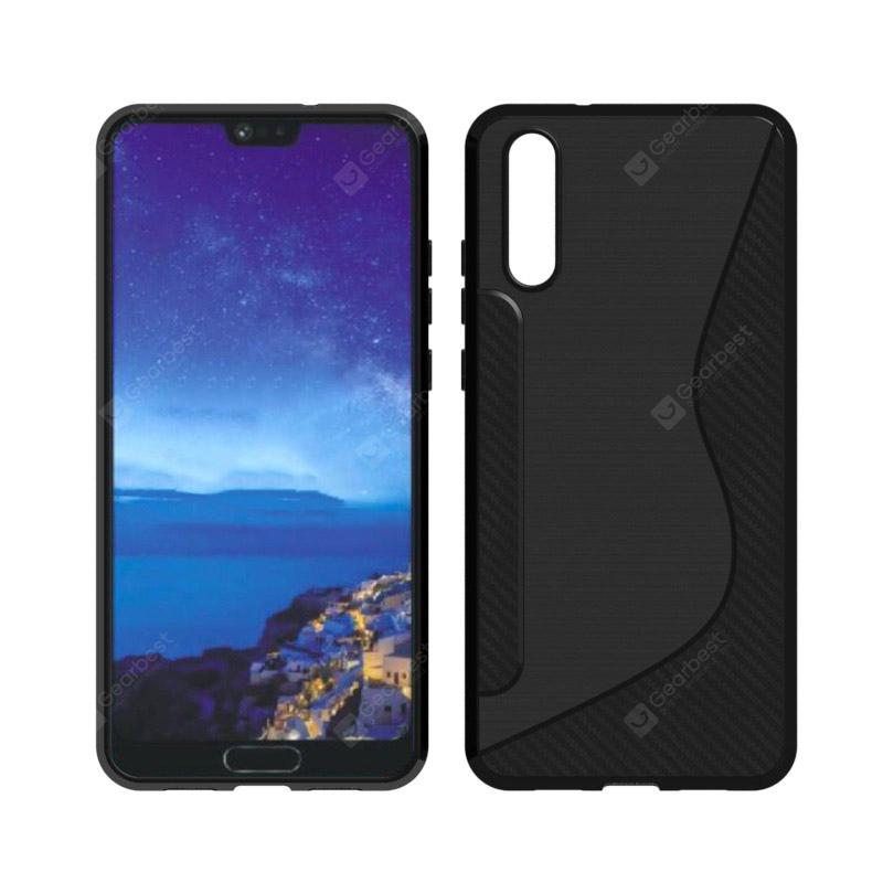 for Huawei P20 Brushed Carbon Fiber