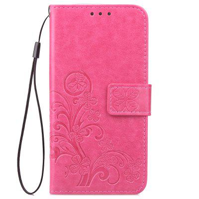 Lucky Four-leaf Clover Embossed Card Holder TPU Hanging Rope for Sony XZ2 сумка для канцелярии lucky clover jewelry zakka td1651
