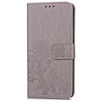 Lucky Four-leaf Clover Embossed Card Holder TPU Hanging Rope for Sony XZ2 vinyl four leaf clover decorative wall art sticker