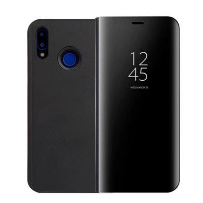 Für Huawei P20 Lite Fall Luxus Flip Stand Klare Sicht Smart Mirror Phone Cover