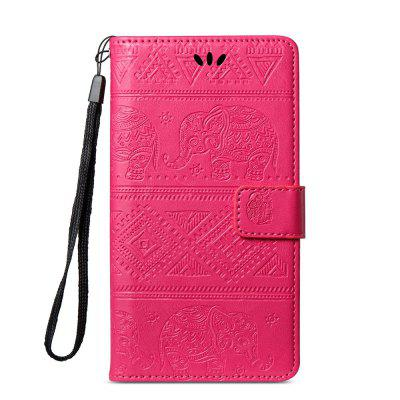 Leather Wallet Stand Flip Case for Xiaomi Redmi Note 5A Elephant Pattern