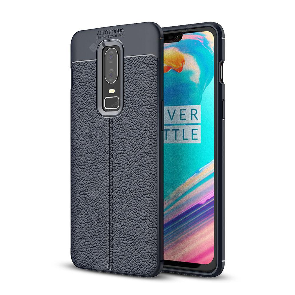 Estojo para OnePlus 6 Lichia Grain Anti Drop Soft TPU Cover
