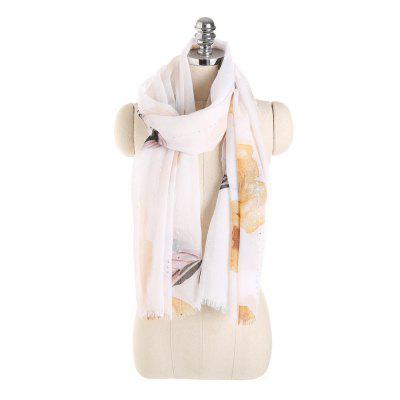 Reversible Butterfly Sheer Voile Shawl Women Scarf for Clothes Decorating