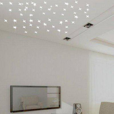 50 PCS Creative Star Wall Sticker Ceiling Living Room Gypsophila Decoration