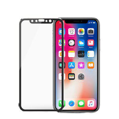 Titanium Alloy Small Side Tempered Glass film for iPhone X