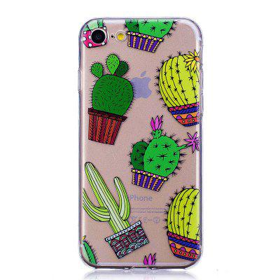 TPU Silica Gel Painted Cactus for iPhone 7/8 Case Ultrathin Protective Case dots pattern flexible tpu case for iphone 7 plus 5 5 inch purple