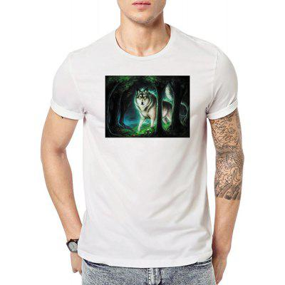 Summer Men's Short Sleeve Digital Printing Large-Code T-Shirts