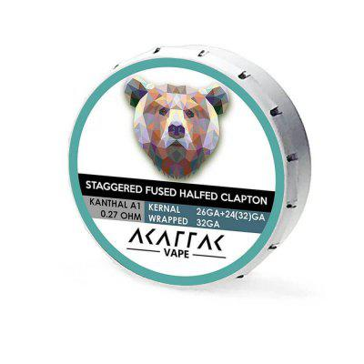 AKATTAK Kanthal A1 Staggered Fused Clapton Prebuilt Heating Wire 20pcs электрооборудование 30 1 awg18 kanthal a1