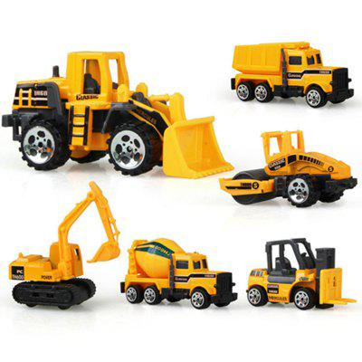 Mini Alloy Construction Vehicle Engineering Dump-car Dump Truck Model Class 6PCS knl hobby j deere 530 tractor agricultural vehicle model alloy ornaments wine rack us ertl 1 16