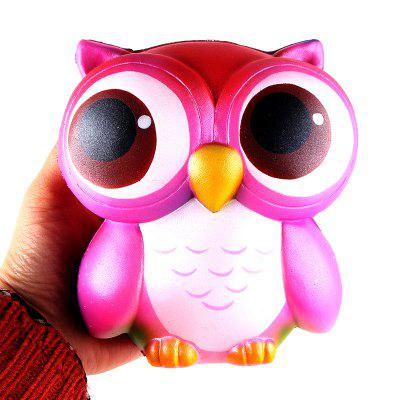 Owl Jumbo Squishy Slow Rising Straps Scented Bread Cake Kids Toy