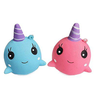 Jumbo Squishy Whale Slow Rising Toys 2PCS
