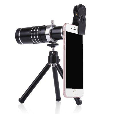 Telephoto 18 Times Telescope + 0.45 HD Wide-angle Macro Cell Phone Camera 10x telescope fisheye macro wide angle lens set for samsung note 2 n7100 black red