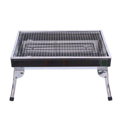 Outdoor Charcoal Courtyard BBQ Stainless Steel Barbecue Frame vik max adult kids dark blue leather figure skate shoes with aluminium alloy frame and stainless steel ice blade