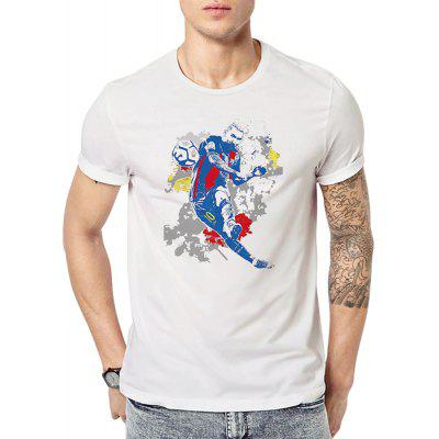 Men's Digital Print Short Sleeved Summer Large Code T-Shirts