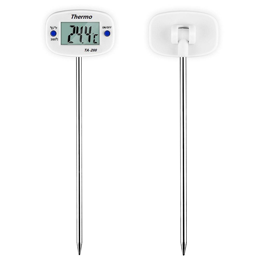 Multipurpose Delicate and Rotary Digital Food Thermometer Stainless Steel Probe Liquid Temperature Testing