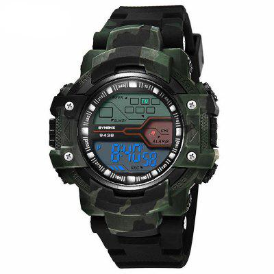 SYNOKE Man Military Camouflage Outdoor Sports LED Electronic Watches