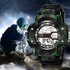 SYNOKE Man Military Camouflage Outdoor Sports LED Electronic Watches - CAMOUFLAGE GREEN