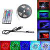 2M USB RGB LED Strip Light 5050 Waterproof TV Background Lamp with 44KEY Remote - MULTI