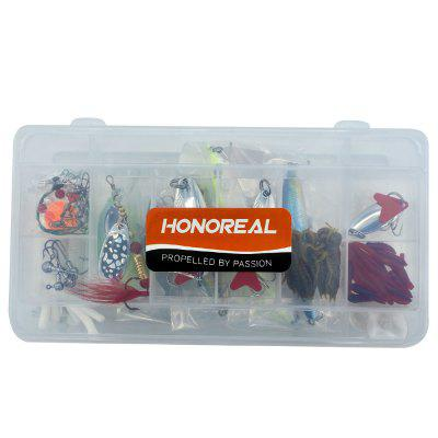 HONOREAL Spoon Spinner Fishing Lure Set with Hooks 5g 15g 20g Metal Baits