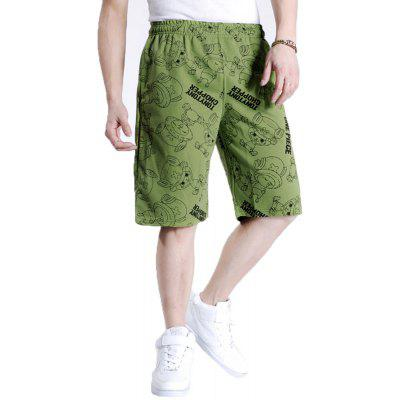 2018 Men's Fashion Large Size Loose Multicolored Shorts