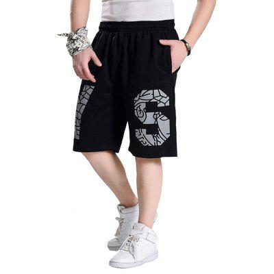 2018 Men's Fashion Letters Large Size Loose in Shorts