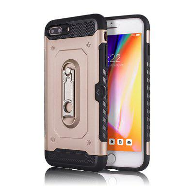 Kickstand Armor Case for iPhone 7 Plus / 8 Plus Card Holder Shockproof Cover never leather badge holder business card holder neck lanyards for id cards waterproof antimagnetic card sets school supplies