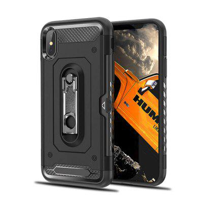 Kickstand Armor Case for iPhone X Card Holder Shockproof Cover