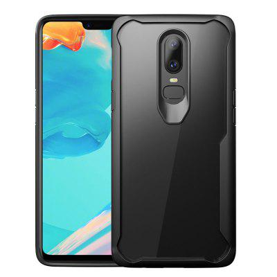 Full Protective TPU and Acrylic Transparent Case for OnePlus 6